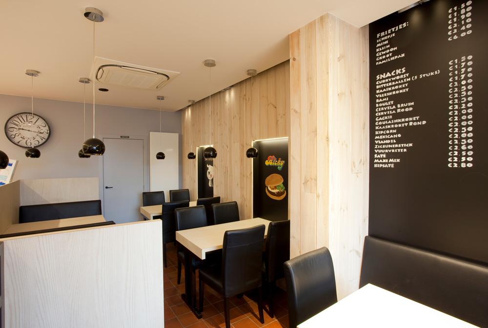 Totaal renovatie frituur – Guy Verheyen Interieur